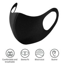 Load image into Gallery viewer, Face Cover Black Reusable Stretchable Anti-Dust Washable Unisex Protective Mouth Cover
