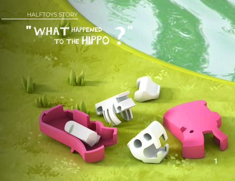 HALF ANIMAL PICTURE BOOK SET (HIPPO)