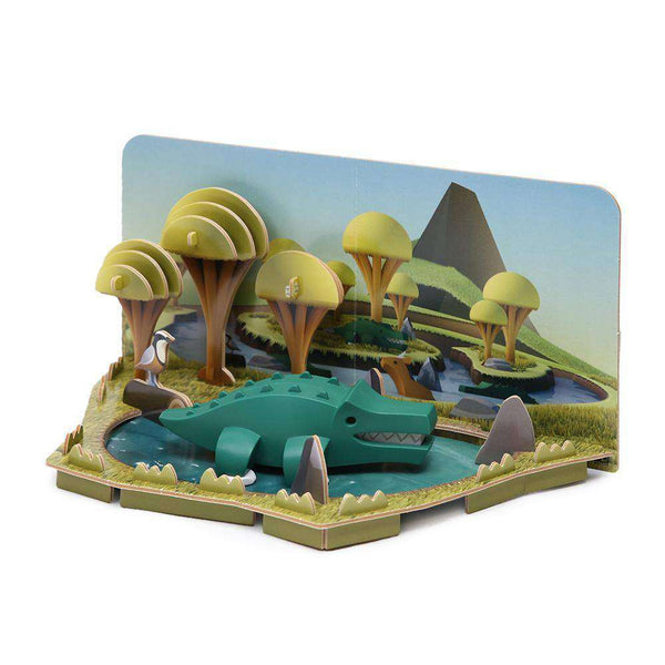 HALFTOYS CROCODILE DIORAMA LANDSCAPE EDITION (Pre-order: New stock arrives 20-27 Aug 2020)