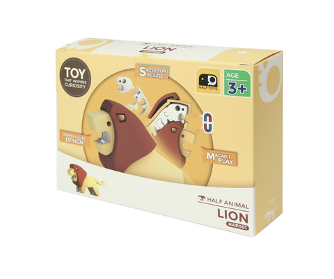 HALF ANIMAL PICTURE BOOK SET (LION)