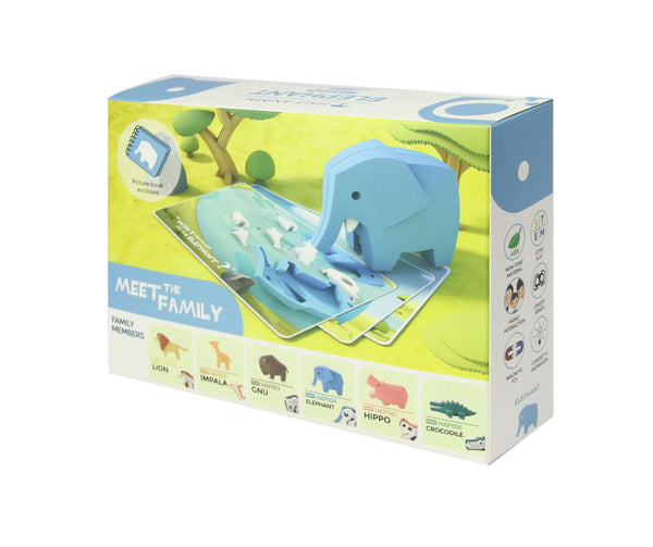 HALF ANIMAL PICTURE BOOK SET (ELEPHANT)