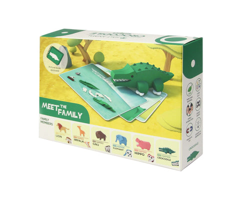 HALF ANIMAL PICTURE BOOK SET (CROCODILE)