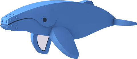 Image of HALFTOYS HUMPBACK WHALE - JollyPlaystore