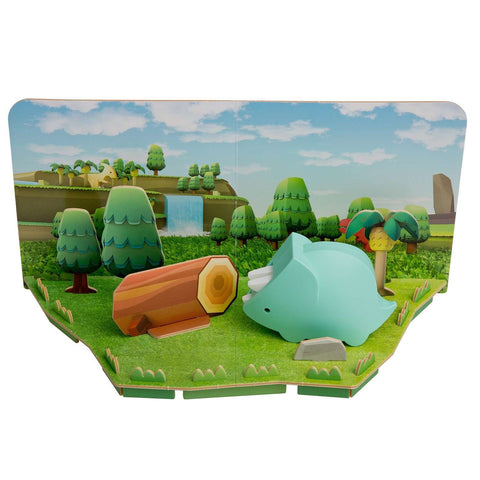 Image of HALFTOYS TRICERA DIORAMA LANDSCAPE EDITION