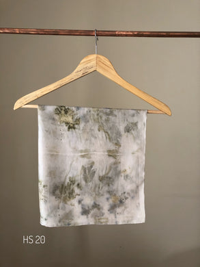 HS 20 Eco printed silk scarf for hair/neck accessories