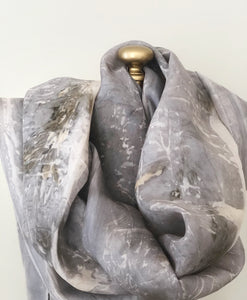 LS 11 eco printed silk scarf