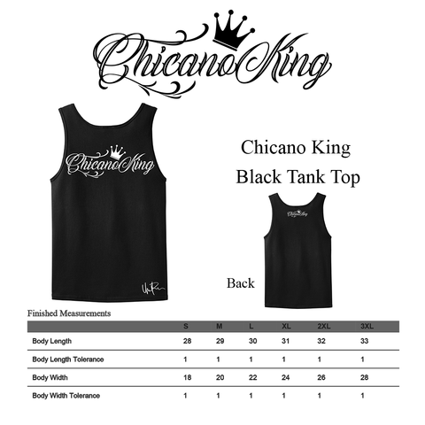 Size Chart - Chicano King Classic Tank Top
