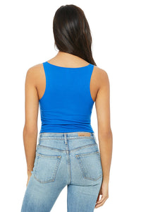 Chicana Queen Cropped Tank Model Back