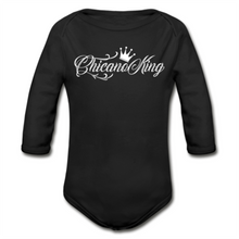 Load image into Gallery viewer, Baby Chicano King Organic Long Sleeve Onesie - Black