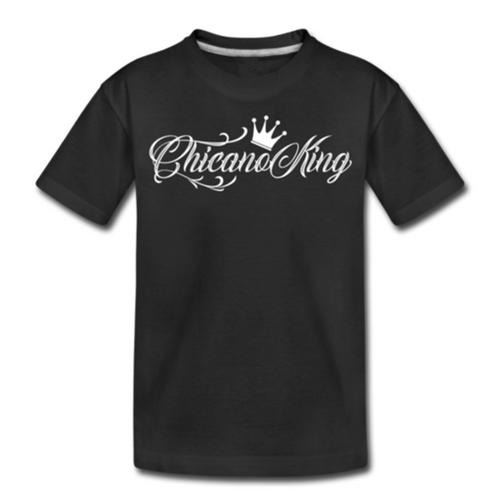 Toddler Chicano King Premium Cotton T-Shirt - Black