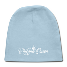Load image into Gallery viewer, Chicana Queen Cotton Baby Cap - Sky Blue