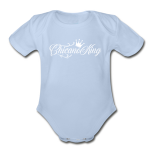 Baby Chicano King Organic Short Sleeve Onesie