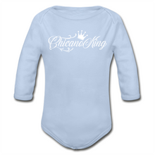Load image into Gallery viewer, Baby Chicano King Organic Long Sleeve Onesie - Sky Blue