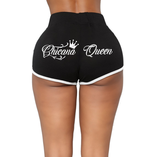 New! Chicana Queen Shorts with Drawstring