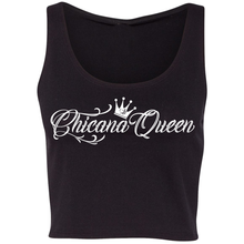 Load image into Gallery viewer, Chicana Queen Cropped Tank Black