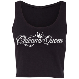 Chicana Queen Cropped Tank Black