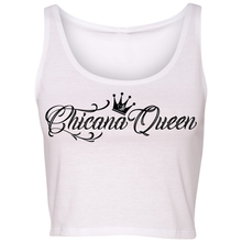 Load image into Gallery viewer, Chicana Queen Cropped Tank White