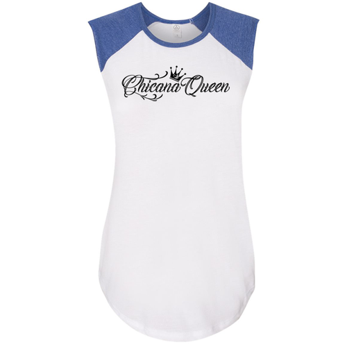 Chicana Queen Jersey Royal Blue