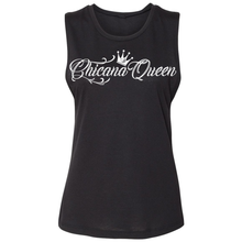 Load image into Gallery viewer, Chicana Queen Women's Sleeveless Muscle Tank Black