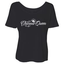 Load image into Gallery viewer, Chicana Queen Short Sleeve Slouchy Tee Black