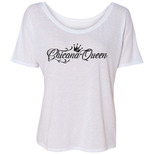 Load image into Gallery viewer, Chicana Queen Slouchy Tee White