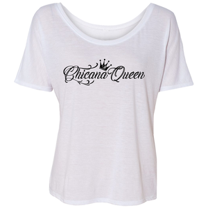 Chicana Queen Slouchy Tee White
