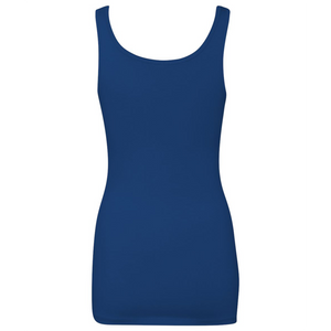 Chicana Queen Women's Spandex Jersey Tank Blue Back