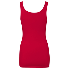 Load image into Gallery viewer, Chicana Queen Spandex Jersey Tank Red Back