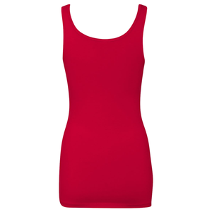 Chicana Queen Spandex Jersey Tank Red Back
