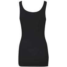 Load image into Gallery viewer, Chicana Queen Spandex Jersey Tank Black Back