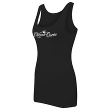 Load image into Gallery viewer, Chicana Queen Women's Spandex Jersey Tank Black Side