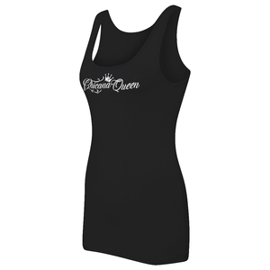 Chicana Queen Women's Spandex Jersey Tank Black Side