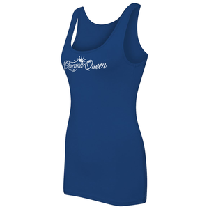 Chicana Queen Women's Spandex Jersey Tank Blue Side