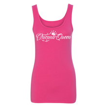 Load image into Gallery viewer, Chicana Queen Spandex Jersey Tank Pink