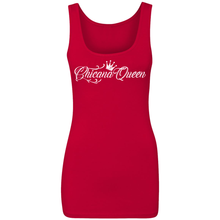 Load image into Gallery viewer, Chicana Queen Spandex Jersey Tank Red