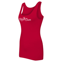 Load image into Gallery viewer, Chicana Queen Spandex Jersey Tank Red Side