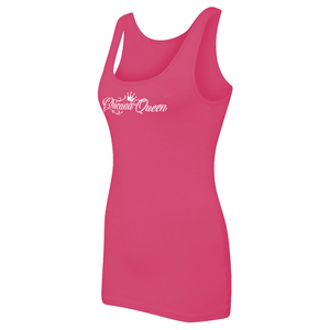Chicana Queen Women's Spandex Jersey Tank Pink Side