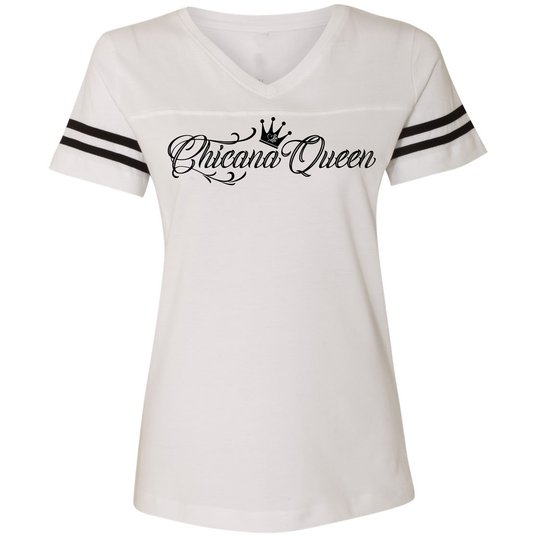 Chicana Queen Women's Football T-Shirt White Front