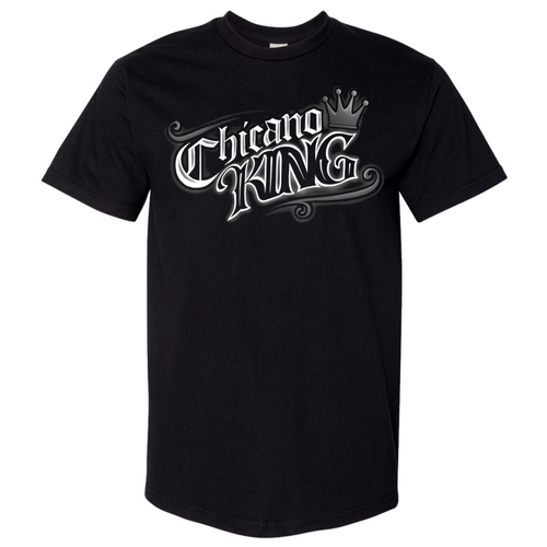 Chicano King Tattoo Black T-Shirt