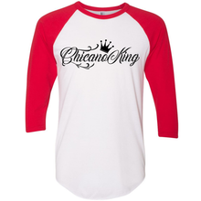 Load image into Gallery viewer, Chicano King 3/4 Sleeve Baseball Tee Red
