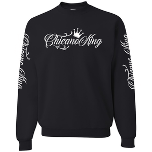 Chicano King Classic Crew Neck Sweatshirt Black Front