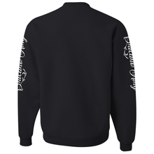 Load image into Gallery viewer, Chicano King Classic Crew Neck Sweatshirt Black Back