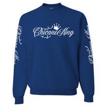 Load image into Gallery viewer, Chicano King Classic Crew Neck Sweatshirt Blue Front