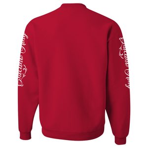 Chicano King Classic Crew Neck Sweatshirt Red Back