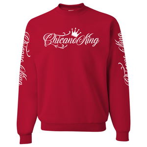Chicano King Classic Crew Neck Sweatshirt Red Front
