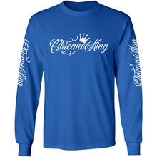 Load image into Gallery viewer, Chicano King Classic Long Sleeve T-Shirt Blue Front