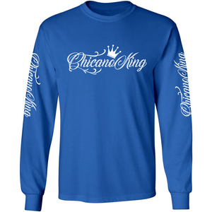 Chicano King Classic Long Sleeve T-Shirt Blue Front