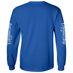 Chicano King Classic Long Sleeve T-Shirt Blue Back