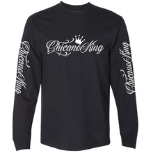 Load image into Gallery viewer, Chicano King Classic Long Sleeve T-Shirt Black Front