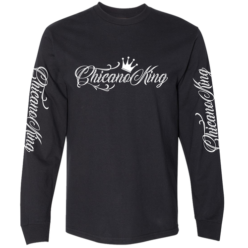 Chicano King Classic Long Sleeve T-Shirt Black Front